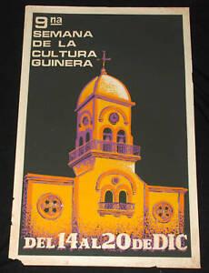 "1988 Original Cuban Movie Poster.Plakat.Affiche.affisch""Cultura Guinera""Guines"