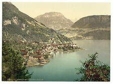 Gersau And Frohnalpstock Lake Lucerne A4 Photo Print