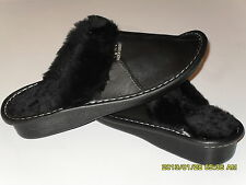 NEW Genuine Lambskin Sheepskin Shearling Leather Slippers Women US 7.5-8, EU 39