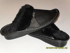 NEW Genuine Lambskin Sheepskin Shearling Leather Slippers Women US 7.5-8, EU 39