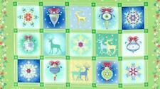 Quilting Tissu Panneau-winterscapes carrés Noël