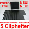 5 Cliphefter Bewerbungsmappen Klemmhefter Neu - Schwarz - Mappen für Bewerbung