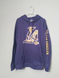 Men's Los Angeles Lakers Fanatics LA Logo Pullover Hoodie Sweater Size XL NWT