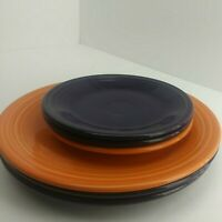 """6pc Fiestaware (3) 10.5"""" Dinner Plates (3) 7"""" Salad Plate *Very Scratched* (7A1)"""