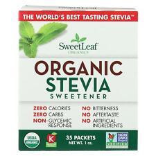 Sweet Leaf Sweetener - Organic - Stevia - 35 Count