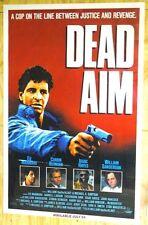 Dead Aim 1990 video poster 27x41
