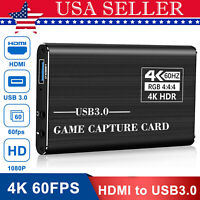 4K 1080p 60fps HDMI to USB 3.0 Video Capture Card Game Live Stream Screen Record