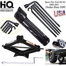 Tools Kit For Dodge Ram 1500 2005 Spare Tire Lug Wrench W/ Bag & 2T Scissor Jack