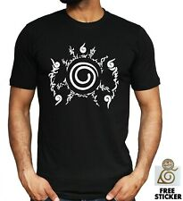 Naruto 9 Tail Seal T-shirt Kurama Anime Manga Cosplay Gift Tee Top ALL SIZES