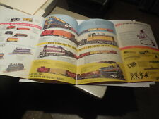 1956 PAPER AD 8 Pg Foldout Brochure Revell HO Toy Electric Train Sets Santa Fe +