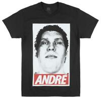 WRESTLEMANIA ANDRE THE GIANT ICON T-SHIRT MENS BLACK WWE WRESTLING TEE