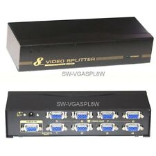 8-way VGA Monitor Display Signal Splitter & Booster, 1 PC to 8 screens, 450MHz