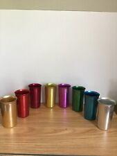 Vintage Sunburst Aluminum Cups Lot Of 8