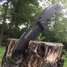 US Marine Corp Elite Tactical Folding Knife Titanium Finish Blade G10 Handle