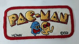 Vintage Pac-Man Midway 1981 Embroidery Embroidered Patch Video Game