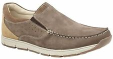 Mens Casual Shoes Leather Nubuck Smart Leisure Slip On Lightweight Boat Size