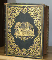 1866 antique Family Holy Bible  **BEAUTIFUL COVERS**  little writting
