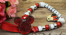 Personalised Stunning Red Dummy Clip Chain Any Name for reborn dolls