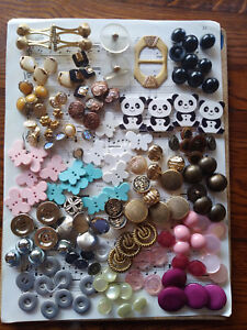 Vintage Buckle & Button Collection Lot-147