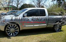 Fit:04-15 Nissan Titan King Cab Body Side Molding Trim Overlay Stainless Steel