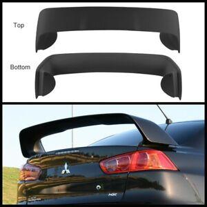 EVO X Style Trunk Spoiler (ABS) Unpainted for 07-18 Mitsubishi Lancer CJ VRX