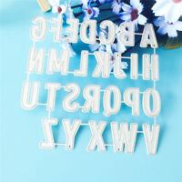 Alphabet diy cutting dies stencil scrapbook album paper card embossing craft   I
