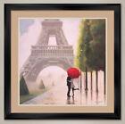 "35W""x35H"" PARIS ROMANCE by MARCO FABIANO - EIFFEL DOUBLE MATTE, GLASS and FRAME"