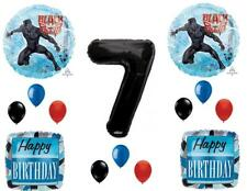 Black Panther Movie 7th Birthday Party Balloons Decorations Supplies