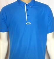 Oakley Golf Polo Men's Regular Fit Medium Short Sleeve Polyester Blue Golf Shirt