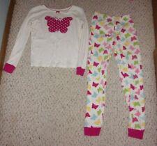 White Gymboree Pajama Set w/ Butterflies, Sweet Sleeptime Sleepwear, 12, VGUC