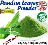 Pandan Leaves Powder Dry Pandanus Amaryllifolius Rampe Leaf Organic Natural 500g