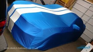Coverking Satin Stretch Indoor Car Cover for Ford Mustang with Racing Stripes