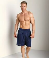 NEW Russell Athletics Mens LARGE NAVY SPORT Mesh Shorts Tie Waist