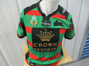 VINTAGE NRL South Sydney Rabbitohs SMALL SEWN AUTHENTIC JERSEY 2016  KIT PREOWN