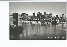 The Brooklyn Bridge and Skyline, Manhattan, New York, Postcard
