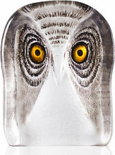 Mats Jonasson Modern II Crystal Owl Sculpture/Statue/Figurine 34105- Brand New!