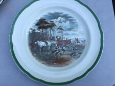 Copeland Spode Herring The Death Hunt Plate Made England Green Trim
