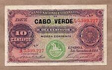 Cape Verde 10 Centavos 1914 (Overprint over Lourenço Marques) XF Hard to Find