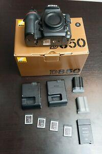 Nikon D850 body 39k shutter + extras