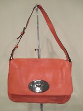 72ff11bbfb17 MULBERRY Burnt Peach Oversized Bayswater Leather Clutch Shoulder Bag
