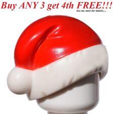 ☀NEW Lego RED WHITE SANTA CLAUSE HAT CAP Present Christmas Winter Boy Minifigure