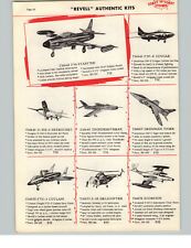 1957 PAPER AD 3 PG Revell Authentic Scale Model Kits Jets Airplanes B36 Bomber +