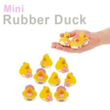 (12) Baby Shower Favor Party Mini Rubber Ducks Pink Accents Ducky