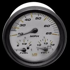 Faria Boat Multi-Function Gauge | US Marine 4 1/4 Inch Black White
