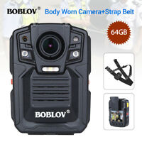 HD 1296P Police Body Worn Camera 64GB Night Vision Ambarella + Belt Strap Sling