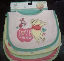 NEW! 4 PACK Disney Winnie The Pooh Baby Girl Bibs