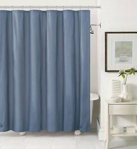 Slate PEVA Shower Curtain Liner: Mildew ResistantChlorine FreeOdorlessMagnets