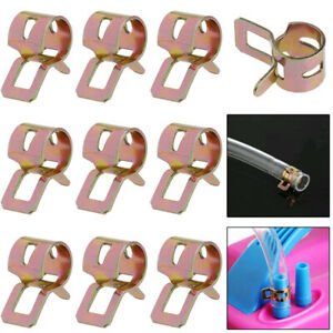10 x 8 mm Spring Clips Clamp Fuel Oil Water Line Hose Pipe Air Tube Fastener Kit