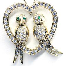1.73 Kt Tartaruga Colomba Pendente Con Diamante F Vvs1 18kt Oro Giallo