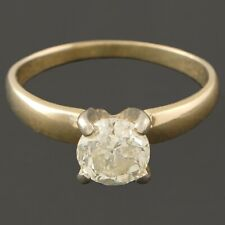 Solid 14K Yellow Gold 1.03 ct. I3 Diamond Solitaire Wedding Engagement Ring